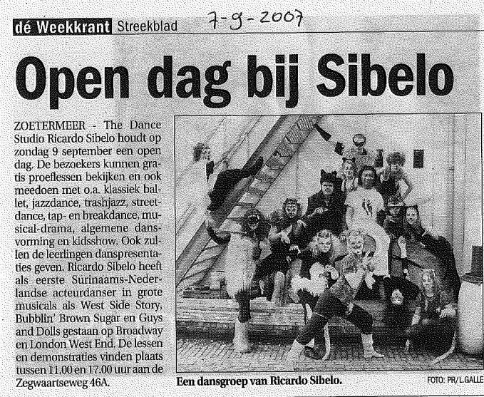 Open_Dag_The_Dance_Studio_Ricardo_Sibelo_2007_Streekblad